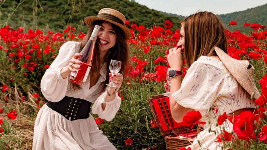 Poppy field picnic